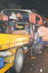 Truck-Bus Collision in Kaohsiung killed 1, Injured 18