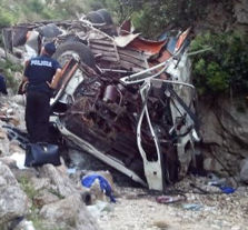 13 lost in Albanian Bus accident, 10 survivors, Albania Declares day of Mourning