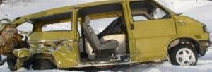 Belarus Train Strikes Minibus