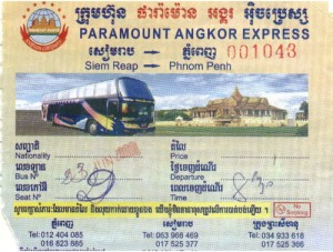 Paramount Angkor Express Tour bus Crashes in Cambodia
