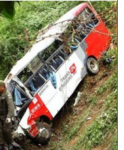 Bus Fans Crash in Tome Chile