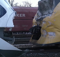 Head On Train Collision in Amsterdam Outskirts