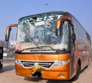 Tourists injured in Bus accident