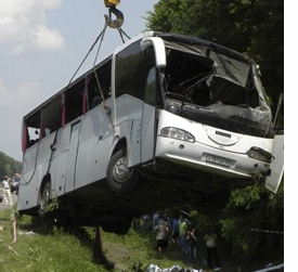 Russian Bus Accident in Ukraine, 14 fatalities, 29 hospitalized