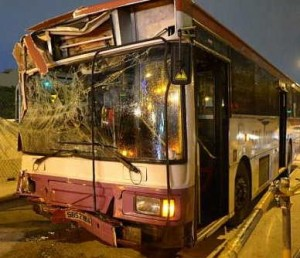 Two Buses Collide in Singapore