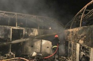 Scania Buses Collide in Iran