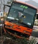 Bus Injures Ten Norwegians on Roundabout