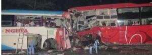 Bus collision in Vietnam