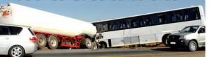 Zambia Bus-Tanker collision