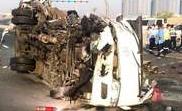 Bus Rear-Ended Stationary Truck in Dubai: 15 Killed