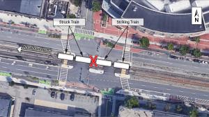 Massachusetts Bay Transportation Authority Train Collision with Derailment