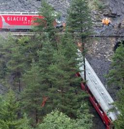 Train Hit by Landslide in Switzerland; 11 Injured