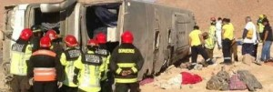 Bus Overturns In Northern Chile