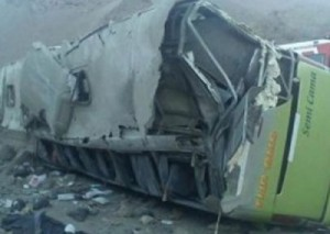 Multiple Injuries, 2 Deaths when Chile TurBus 2082 Drives off Cliff