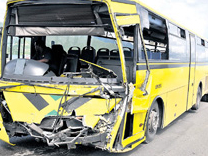 Jamaica Bus Accident Injures 15, Including Pregnant Passenger and Driver