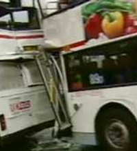 Two Double Decker Kowloon Buses Collide, 57 injured in Hong Kong