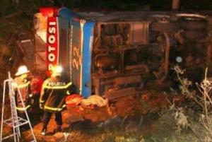 Argentina Bus Kills 12 in High Speed Ravine Crash Loss of Control