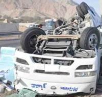 Emirates Van Full of Oriental Workers Flips on Expressway, 4 killed