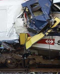 Collision Between Two Trains in Switzerland