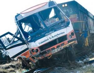 Kenya bus hits Train