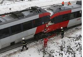 Vienna Trains Collide Head-On